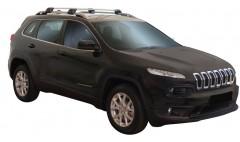 Багажник на рейлинги для Jeep Cherokee '14-, до края опоры (Whispbar-Prorack)