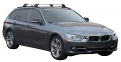 Багажник на низкие рейлинги для BMW 3 F31 '12-, до края опоры (Whispbar-Prorack)