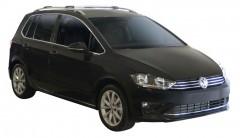 Багажник на рейлинги для Volkswagen Golf Sportsvan '14-, вровень рейлинга (Whispbar-Prorack)