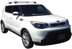Багажник в штатные места для Kia Soul '14-, сквозной (Whispbar-Prorack)