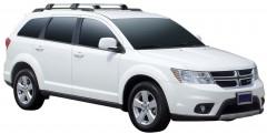 Багажник на рейлинги для Dodge Journey '07-, до края опоры (Whispbar-Prorack)