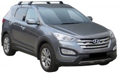 Багажник на низкие рейлинги для Hyundai Santa Fe '13- DM, до края опоры (Whispbar-Prorack)