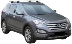 Багажник на низкие рейлинги для Hyundai Santa Fe '13- DM, сквозной (Whispbar-Prorack)