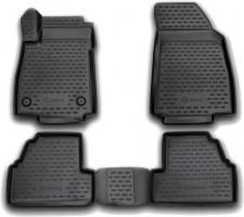 Коврики в салон 3D для Opel Mokka '12- полиуретановые, черные (Novline / Element)