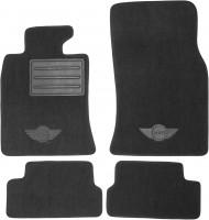Коврики в салон для Mini Cooper '07-14 текстильные, черные (Люкс) без лентяйки