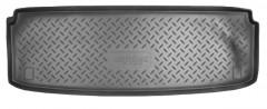 Коврик в багажник для Kia Mohave '09- (7 мест, короткий), полиуретановый (NorPlast) черный