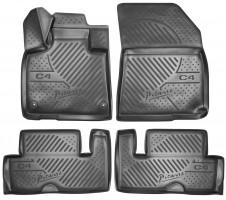 Коврики в салон для Citroen C4 Picasso '13- полиуретановые, черные (Novline)