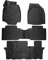 Коврики в салон для Honda Pilot '08-15 полиуретановые, черные (Novline / Element) 3D