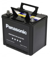 Автомобильный аккумулятор Panasonic High-Spec N-75D23L-FHB 65А, правый плюс