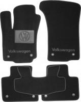 Коврики в салон для Volkswagen Phaeton '02-16 текстильные, черные (Люкс) 8 клипс