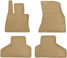Коврики в салон для BMW X6 F16 '15- резиновые, бежевые (Stingray)