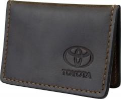 Обложка для прав/тех.паспорта темно-коричневая 20112005 Toyota