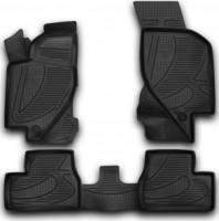 Коврики в салон 3D для Lada (Ваз) Kalina 1117-19 '04-13 полиуретановые (Novline / Element)