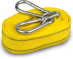 Трос буксировочный 3 тонны ТР-202-3-2 3т 4,5м желтый