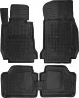 Коврики в салон для BMW 3 F30 '12- резиновые, черные (AVTO-Gumm)