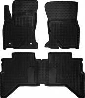 Коврики в салон для Toyota Hilux '15- резиновые, черные (AVTO-Gumm)