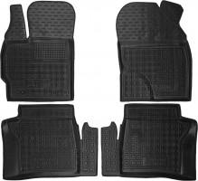 Коврики в салон для Toyota Prius '09-15 резиновые, черные (AVTO-Gumm)
