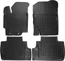 Коврики в салон для Toyota Yaris '15- резиновые, черные (AVTO-Gumm)