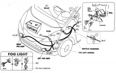 Фото 4 - Противотуманные фары для Mitsubishi Lancer X (10) '07-11 комплект (Dlaa) полноразмерные