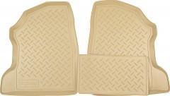 Коврики в салон для Opel Combo '01-12 полиуретановые, бежевые (Nor-Plast) задние