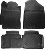Коврики в салон 3D для Hyundai Elantra AD '16- полиуретановые, черные (Novline / Element)