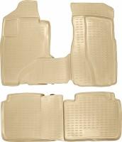 Коврики в салон для Honda CR-V '02-06 полиуретановые, бежевые (Novline / Element)