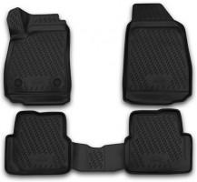 Коврики в салон 3D для Chevrolet Cobalt '12- полиуретановые, черные (Novline)