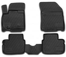Коврики в салон для Suzuki SX4 '06-14, полиуретановые, черные (Novline / Element)
