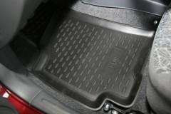 Коврики в салон для ЗАЗ Lanos / Sens, полиуретановые, черные (Novline / Element) передние