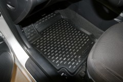 Novline Коврики в салон 3D для Kia Cerato Koup '09-13 полиуретановые, черные (Novline)