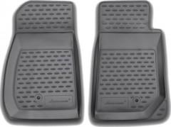 Коврики в салон для Jeep Wrangler '07-16, 2 дв, полиуретановые, черные (Novline / Element)