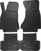 Коврики в салон для Audi A4 '08-15 резиновые, черные (AVTO-Gumm)