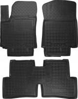 Коврики в салон для Hyundai Creta '16- резиновые, черные (AVTO-Gumm)