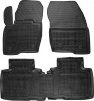 Коврики в салон для Ford  Edge '16- резиновые, черные (AVTO-Gumm)