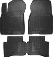 Коврики в салон для Kia Niro '17-  резиновые, черные (AVTO-Gumm)