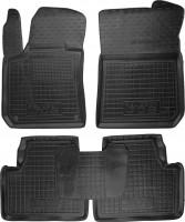 Коврики в салон для Peugeot 308 '14-, универсал, резиновые, черные (AVTO-Gumm)