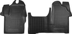 Коврики в салон для Renault Master '10- резиновые, черные (AVTO-Gumm)