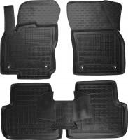 Коврики в салон для Volkswagen Tiguan '16- резиновые, черные (AVTO-Gumm)