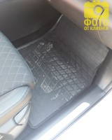 Фото 7 - Коврики в салон для Renault Kadjar '16- резиновые (Stingray)