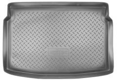 Коврик в багажник для Peugeot 207 '06-12, полиуретановый (NorPlast) черный