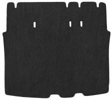 Коврик в багажник для Volkswagen Caddy '04-15, 2 ряд сидуш. сложен, текстильный черный
