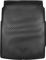 Коврик в багажник для BMW 5 F10 '10-16, седан резино/пластиковый (NorPlast) черный