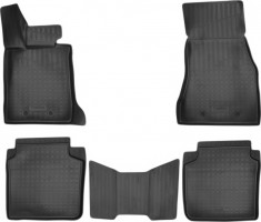 Коврики в салон для BMW 7 G12 '15-, Long, полиуретановые, черные (Nor-Plast) 3D
