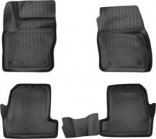 Коврики в салон для Ford Focus III '15-, полиуретановые, черные (Nor-Plast) 3D
