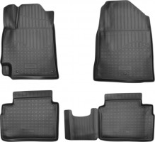 Коврики в салон для Hyundai Elantra AD '16-, полиуретановые, черные (Nor-Plast) 3D