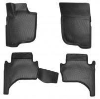 Коврики в салон для Mitsubishi L200 '16-, полиуретановые, черные (Nor-Plast) 3D короткая база