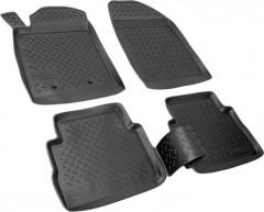 Коврики в салон для Opel Vectra C '02-08, полиуретановые, черные (Nor-Plast)