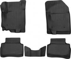 Коврики в салон для Suzuki Vitara '15-, полиуретановые, черные (Nor-Plast) 3D