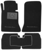 Коврики в салон для Mercedes E-Class W124 '84-96 текстильные, черные (Люкс)