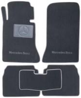 Коврики в салон для Mercedes E-Class W124 '84-96 текстильные, серые (Люкс)